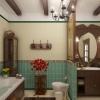 Інтер`єр ванної кімнати в стилі кантрі
