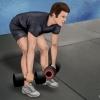 Як тренувати м`язи спини за допомогою гантелей